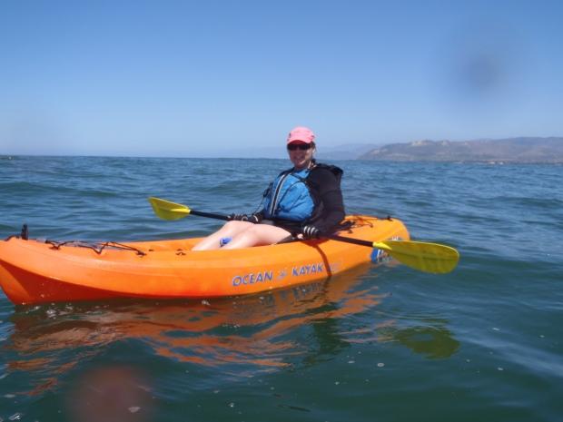 Kayaking off of Ventura Harbor.